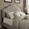 All-N-One Fully Upholstered Nailhead Saddle Bed Queen- DS-1928-290