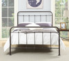 All-in-One Curved Queen Metal Bed - Brown - DS-2645-290