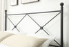 """All-in-One """"X"""" Queen Metal Bed - Black- DS-2643-290"""