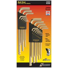 Bondhus 20899 | 22pc GoldGuard™ 14K Gold Plated BallDriver® L-Wrench Set