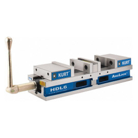 "Kurt HDL6J | Double Station Machine Vise Anglock CNC 4"" Opening Workholding"