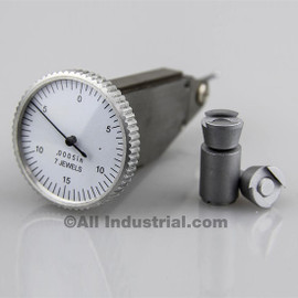 """All Industrial 52040   .030"""" Vertical Dial Test Indicator 0.0005"""" Graduation White Face Jewel"""