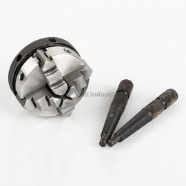 """All Industrial 47752   Self-Centering Lathe Chuck Plain Back 2"""" 4-Jaw M14-1 Hardened"""