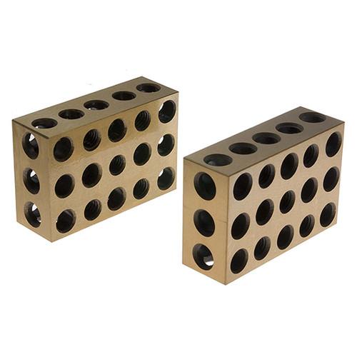 "All Industrial 55510 | 1 Pair Ultra Precision 1-2-3 Blocks 23 Holes .0001"""