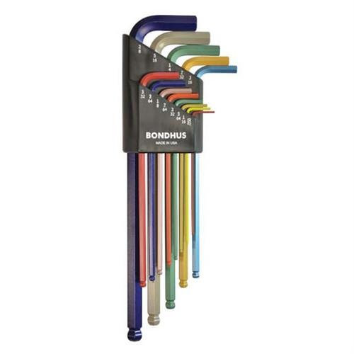 Bondhus 69499 | 9pc 1.5 - 10mm Long Metric L-Wrench Set