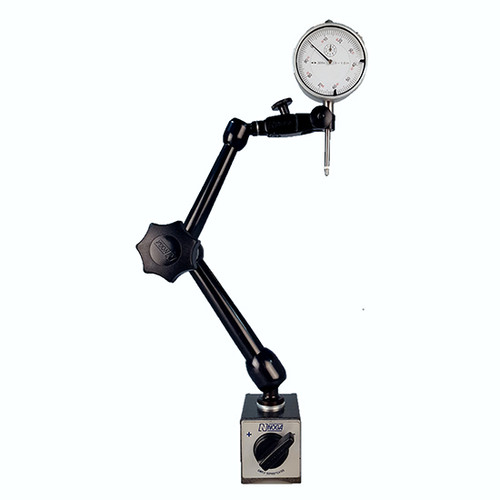 "All Industrial 52000 0-1"" Dial Indicator & Noga MG61003 Magnetic Base"