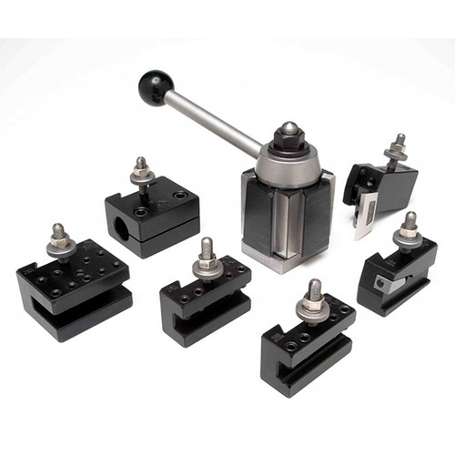 Aloris AXA-1-SET | 7pc. Tool Set Tool Post & Holders