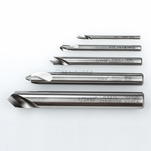 "YG1 10030 | NC Spotting Drill 8% Cobalt HSS 1/8 to 1/2"" 90 Degree 5pc Set CNC Machine"