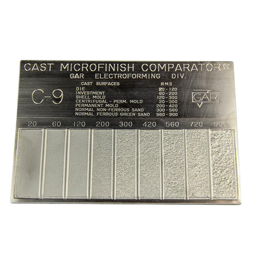 Gar C9 | Surface Roughness Scale C-9 Cast Mocrofinish Surface Comparator