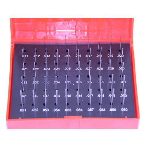 "All Industrial 55130 | 50pc M0 .011-.060"" Plug Pin Gage Set Plus (+) Steel .0002"" Tolerance"