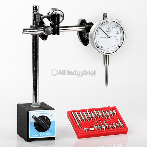 All Industrial 51906 | Dial Indicator, Magnetic Base & Point Precision Inspection Set