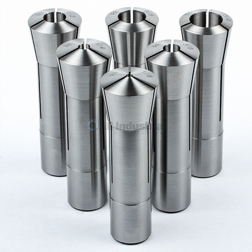 """All Industrial 41047   6pc High Precsion R8 Collet Set Fractional 1/8"""" to 3/4"""" for Bridgeport 6pc"""