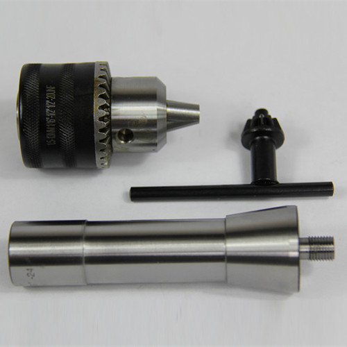 "All Industrial 49944 | 1/64-1/4"" Capacity Threaded Drill Chuck & 3/8""-24 X R8 Arbor for Woodworking"