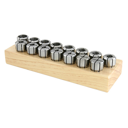"Techniks 01610-8S | 1/8-9/16"" X 1/16 High Precision DA100 8pc Collet Set"