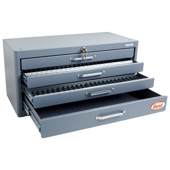 Huot 13175 | Fractional Wire Gage Letter Master Drill Dispenser Organizer Cabinet