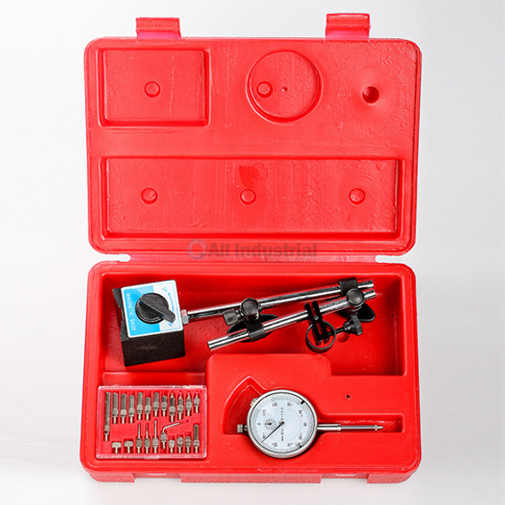 All Industrial 51907 | Dial Indicator, Triton Magnetic Base & Point Set