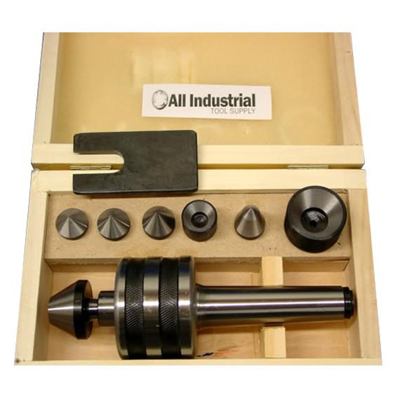 All Industrial 46014 | MT4 Live Center Set Morse Taper 4MT Triple Bearing Lathe Medium Duty CNC