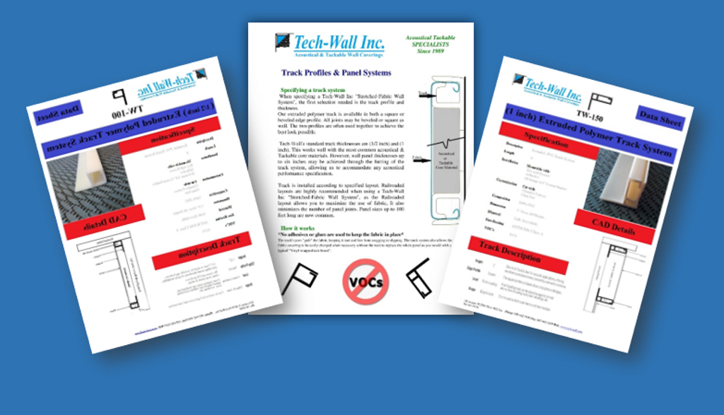 Fabric Mounting Track Sample Kit