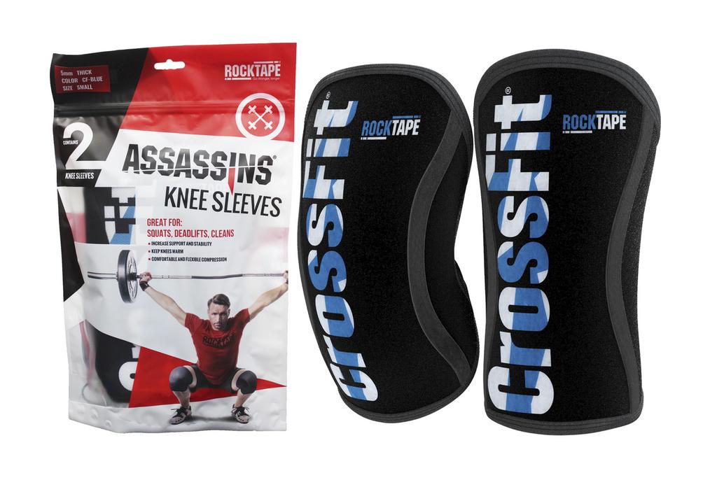 RockTape Assassins Knee Sleeve - CrossFit Blue