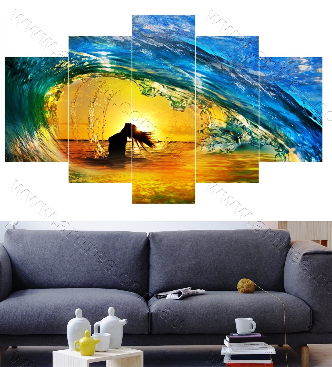 Girl and Water splash - Arttree