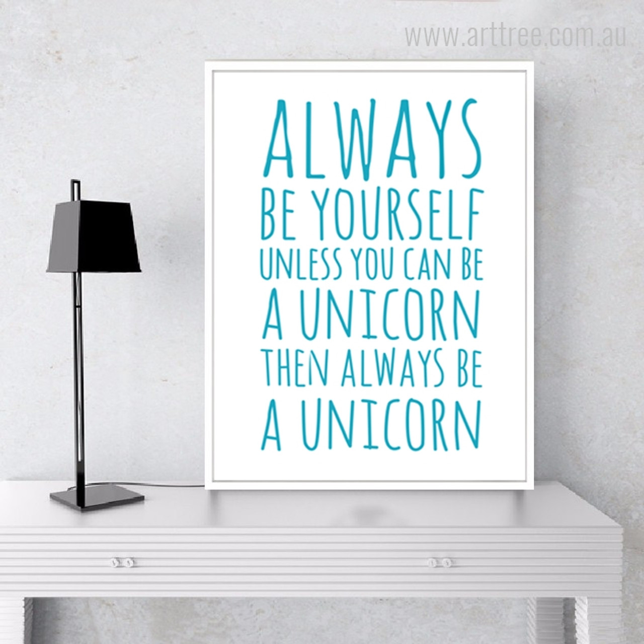 Be yourself unless arttree always be yourself aqua motivational quotes canvas print solutioingenieria Gallery