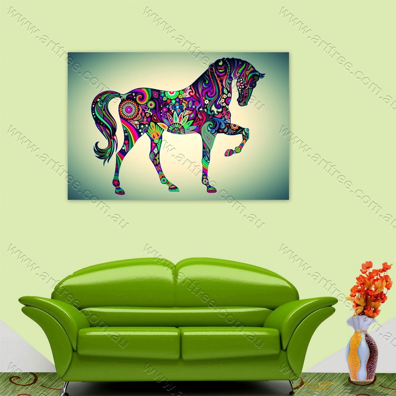 Pink Green Horse - Arttree