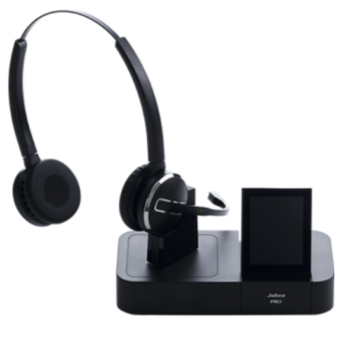 Jabra Pro 9460 Duo Wireless Headset With Touchscreen For: Jabra Pro 9460 Duo : Dual Function Wireless Office Headset
