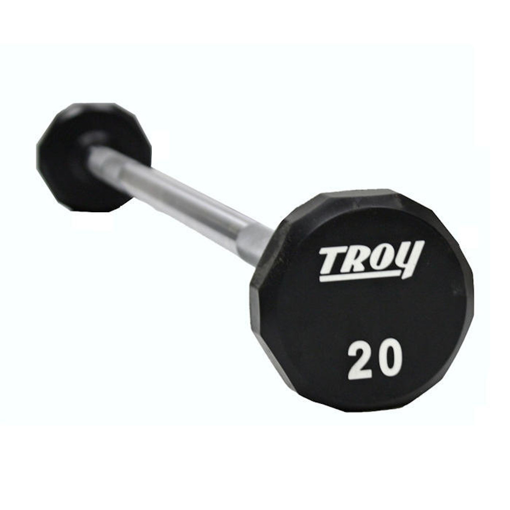 Troy 12-Sided Urethane Coated Barbell