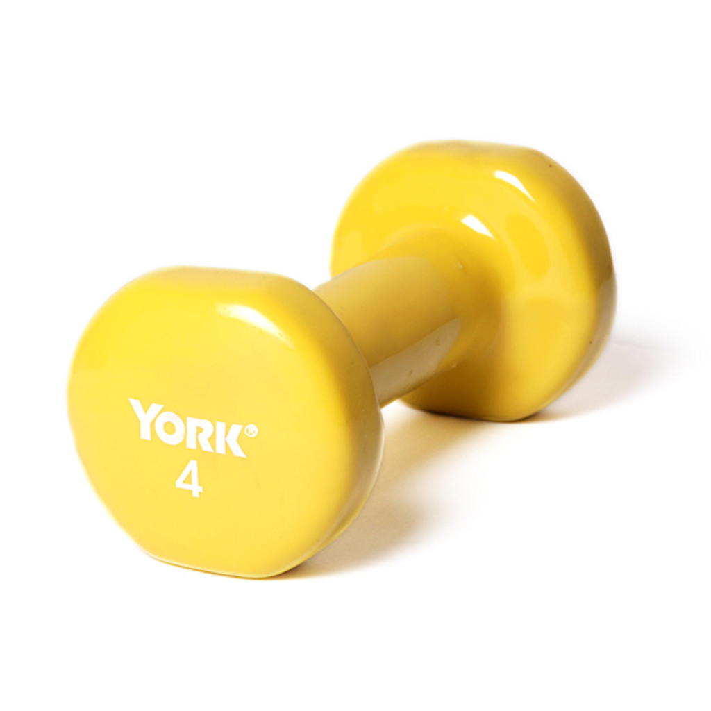 4 lb. York Vinyl Covered Dumbbell