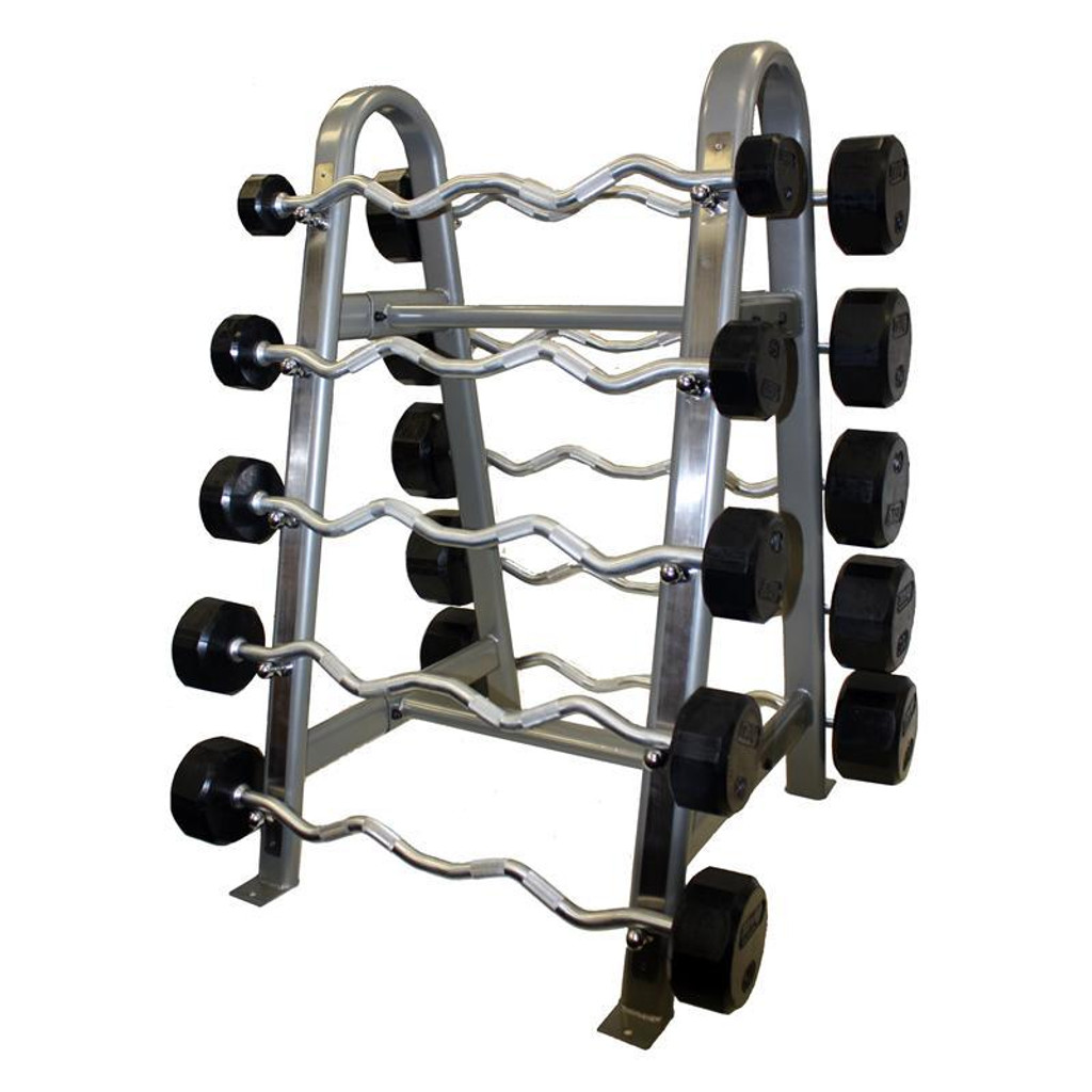Troy Commercial Rubber Coated Barbell Set
