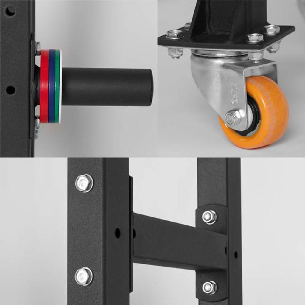 Xtreme Monkey Workout Equipment Rack with Casters Close Ups