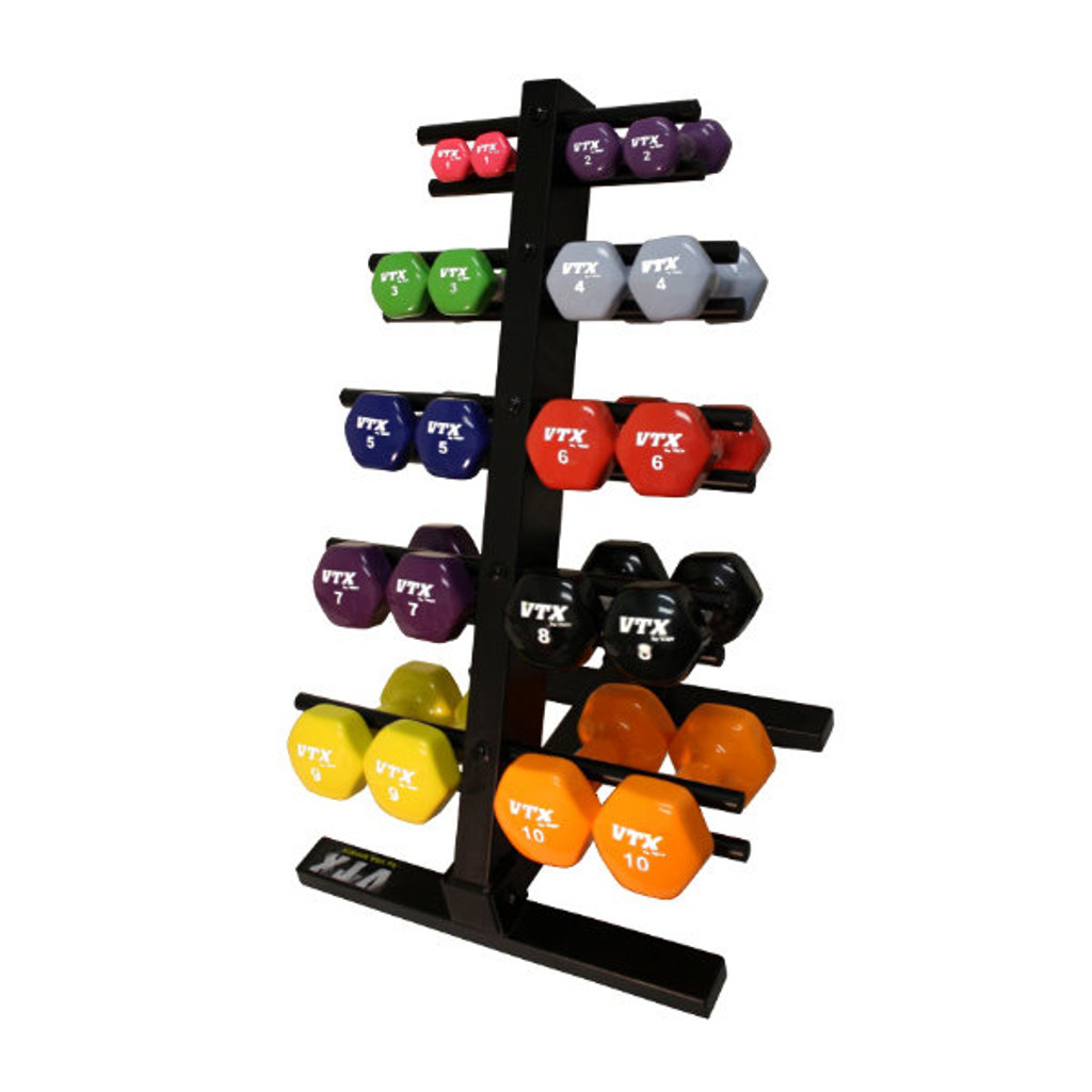 Troy VTX Vinyl Weight Set with Rack