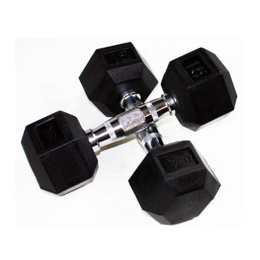 Troy USA Sports Rubber Coated Hex Dumbbell Set