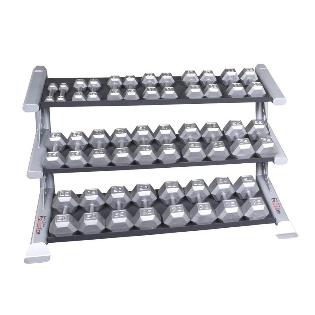 Body Solid 3-Tier Dumbbell Shelf WeightRack
