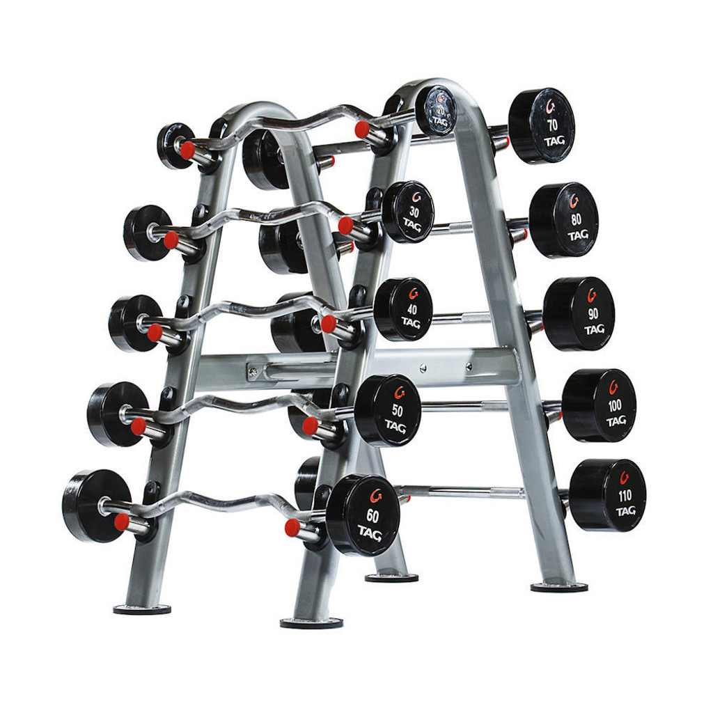TAG Fitness Urethane Weights with Rack