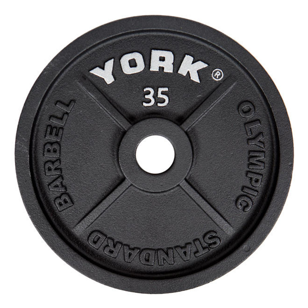 York 35 lb Weight Plate