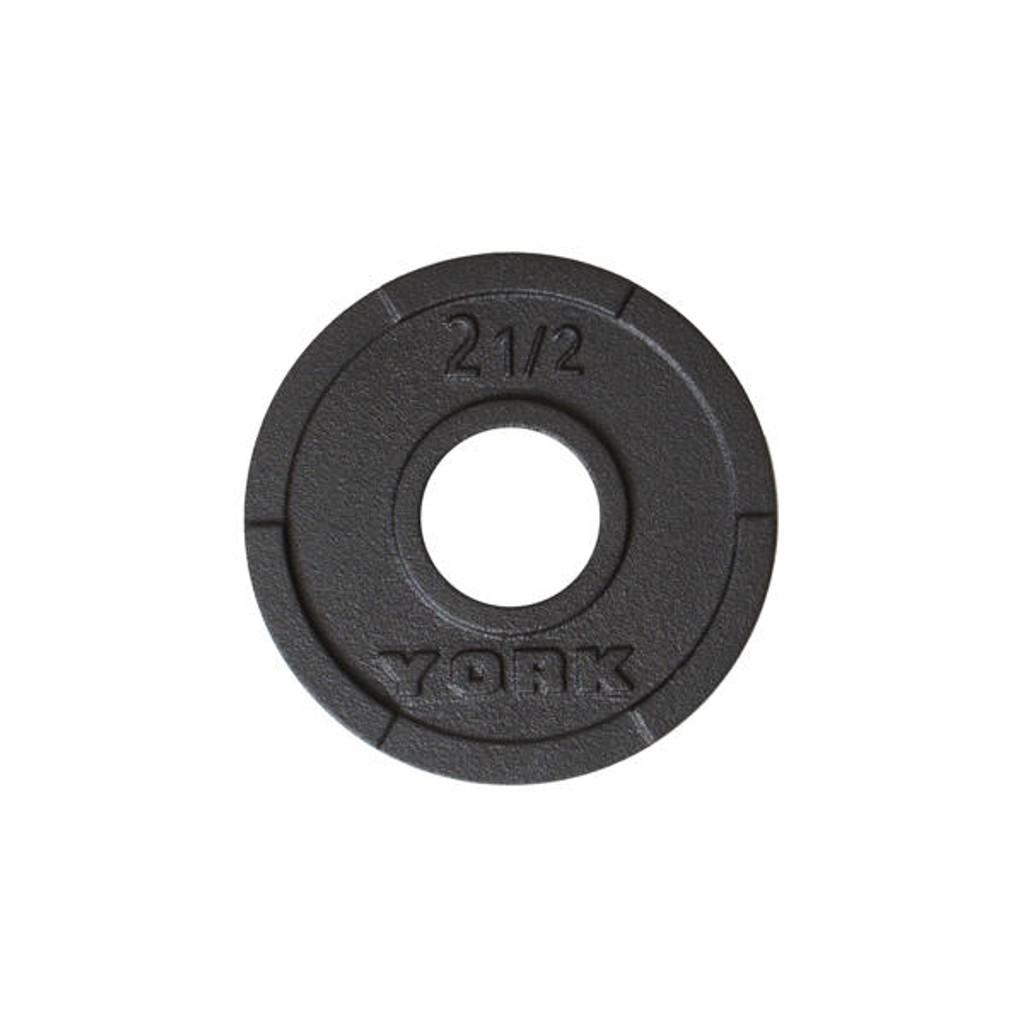 York 2.5 lb Cast Iron Weight Plate