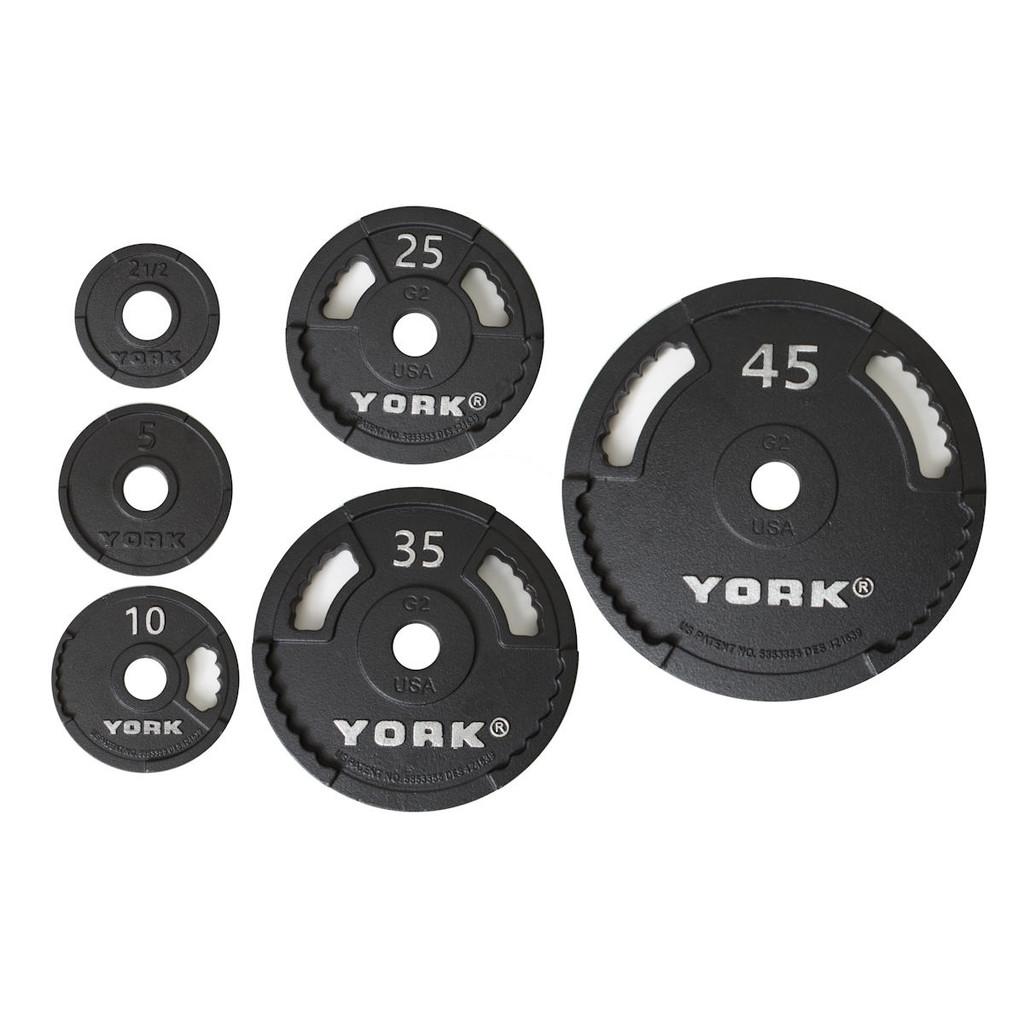 York Cast Iron Olympic Plate Set - G2