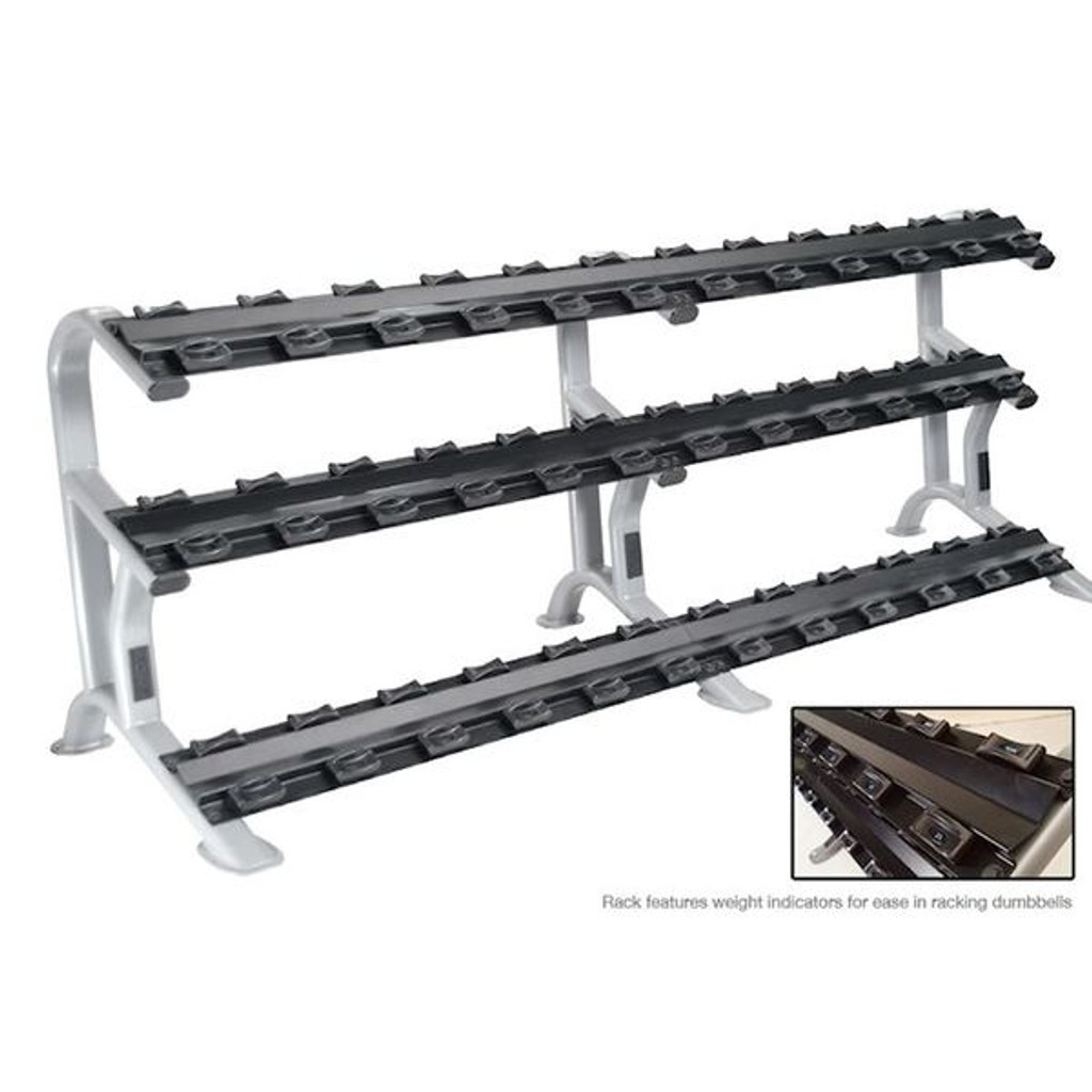 York Barbell ETS Commercial 3-Tier Weight Rack