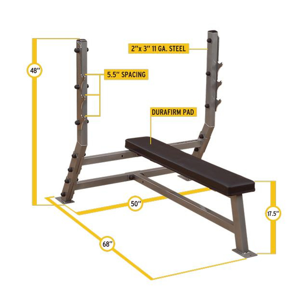 Body Solid Flat Bench Press Dimensions
