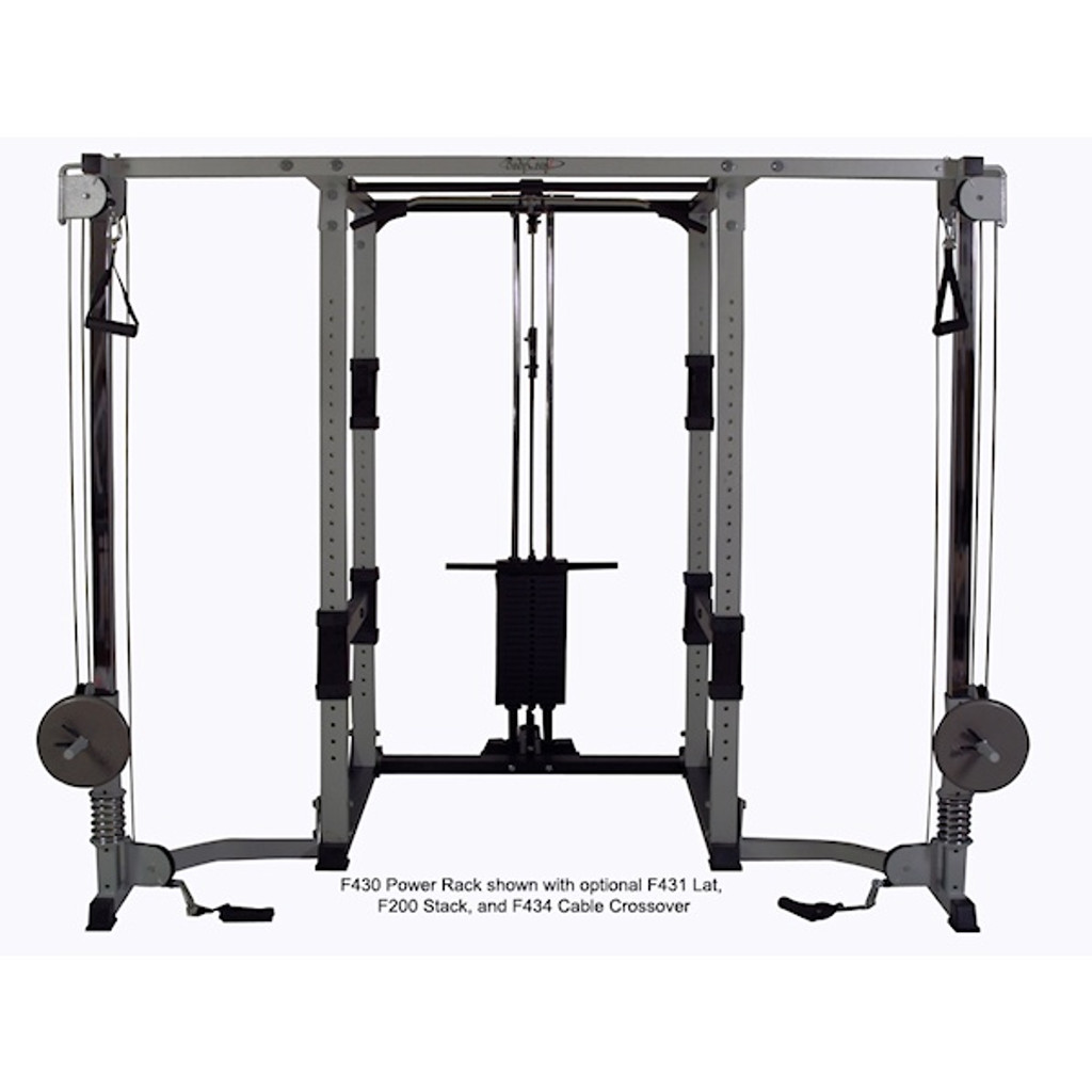 BodyCraft Light Commercial Free Weight Rack Cable Crossover Option