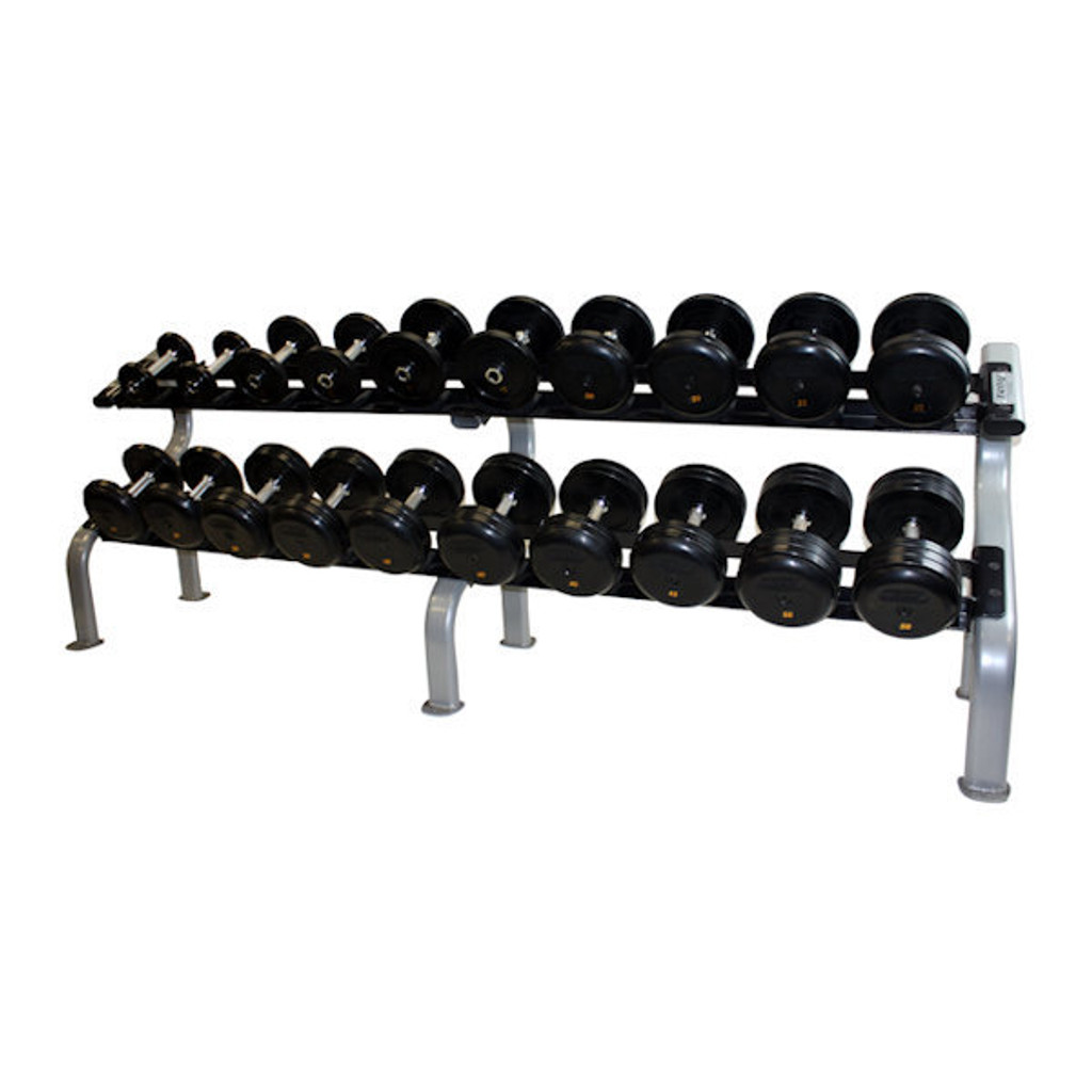 Troy Rubber Pro Style Weights with Rack