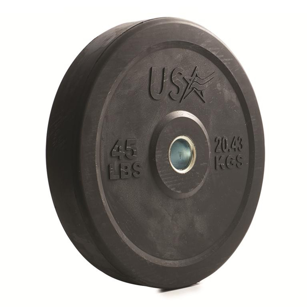 Troy USA Sports Solid Rubber Bumper Plate