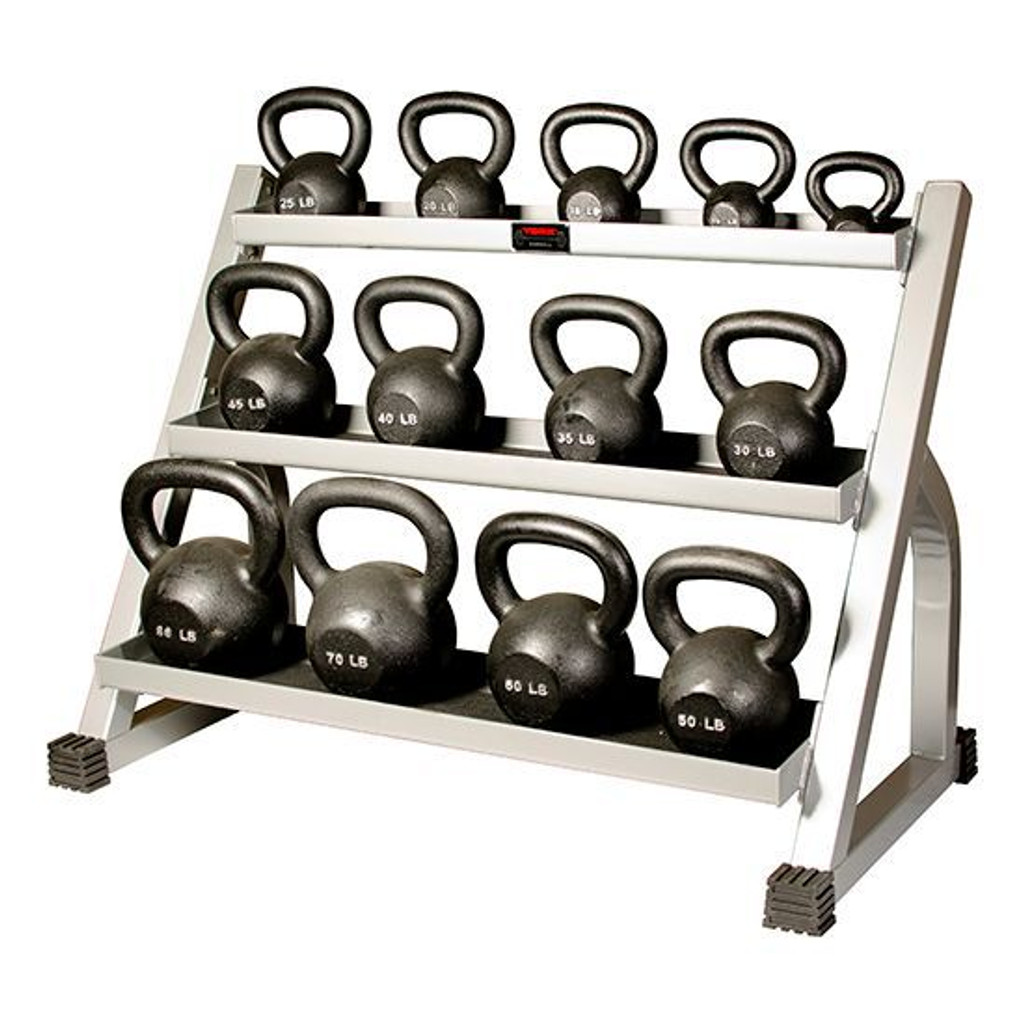 Cast Iron Kettlebell Set W/ Rack