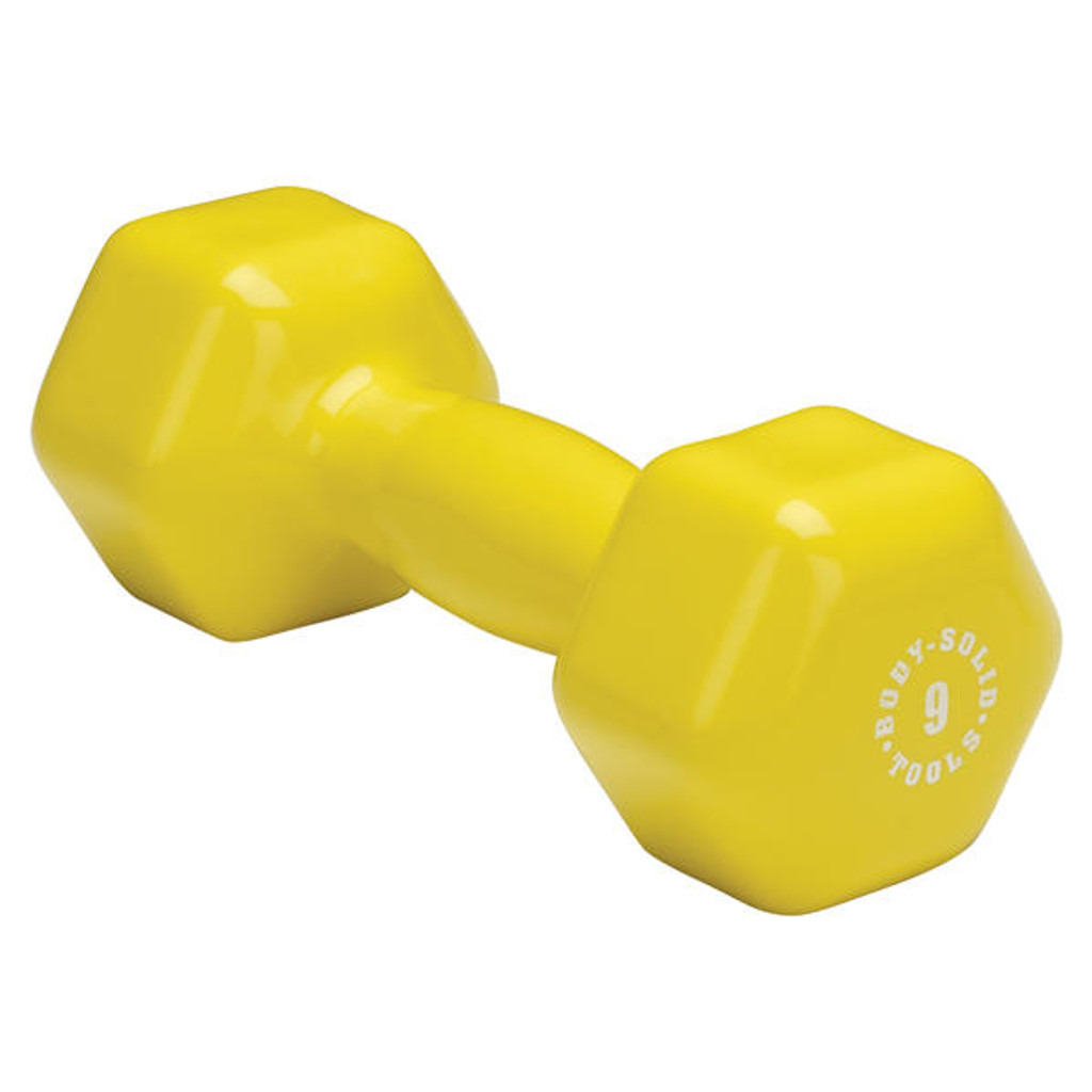 9 lb. Body Solid Vinyl Covered Aerobic Dumbbell