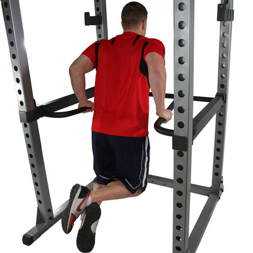 Optional Dip Handles for Body Solid Commercial Power Rack