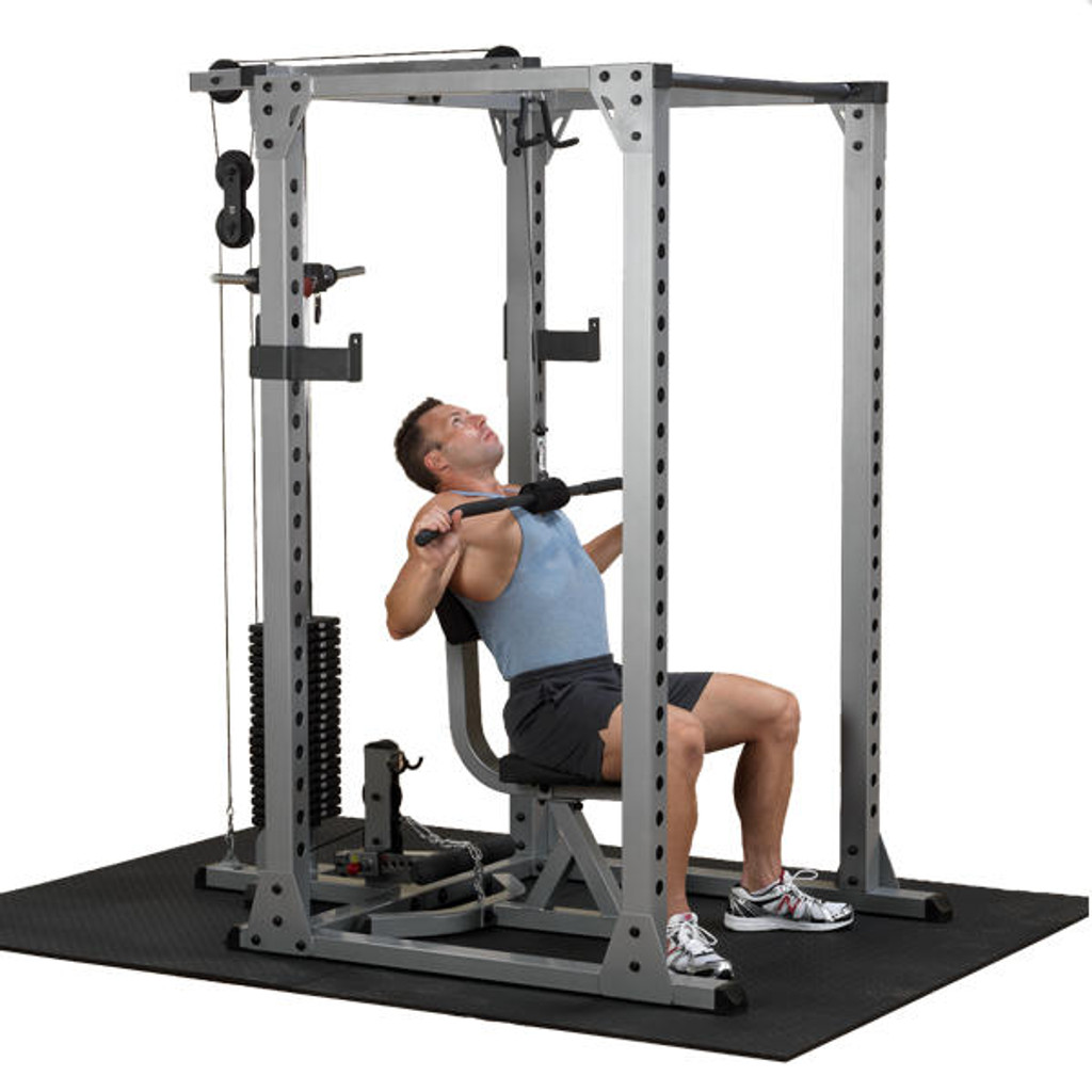 Body Solid Pro Power Rack with Lat Pull