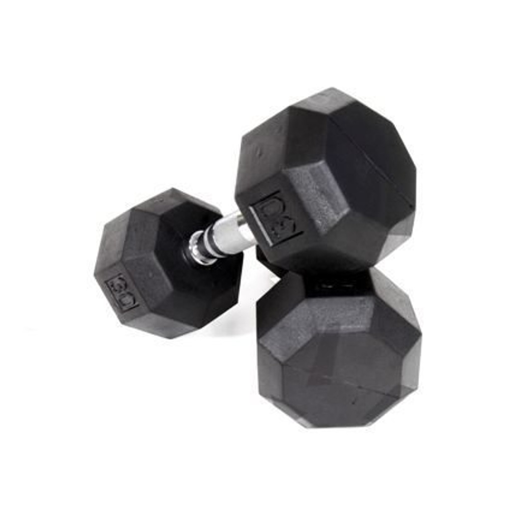 Troy VTX 8-Sided Rubber Encased Dumbbells