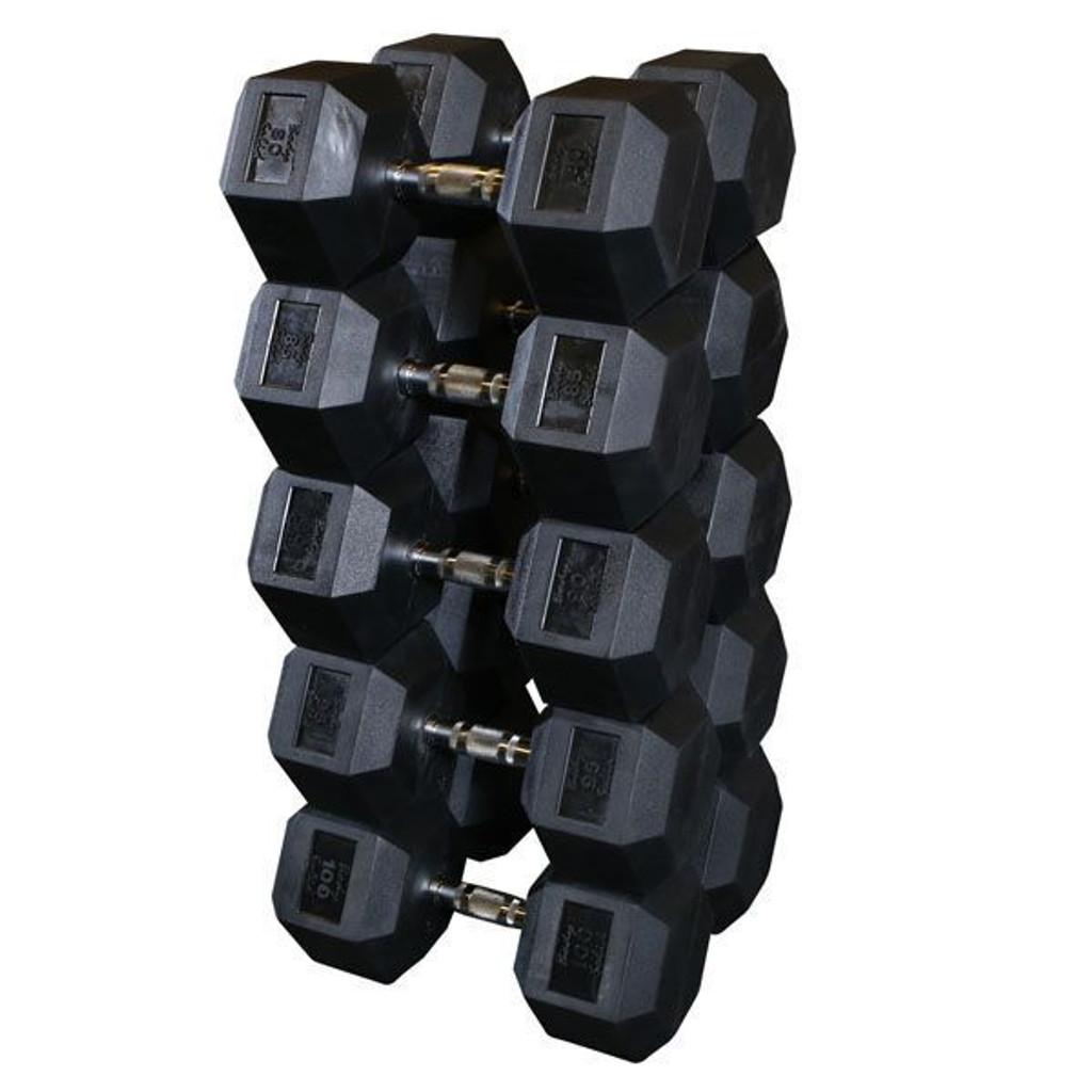 Body Solid SDR Rubber Coated Dumbbells