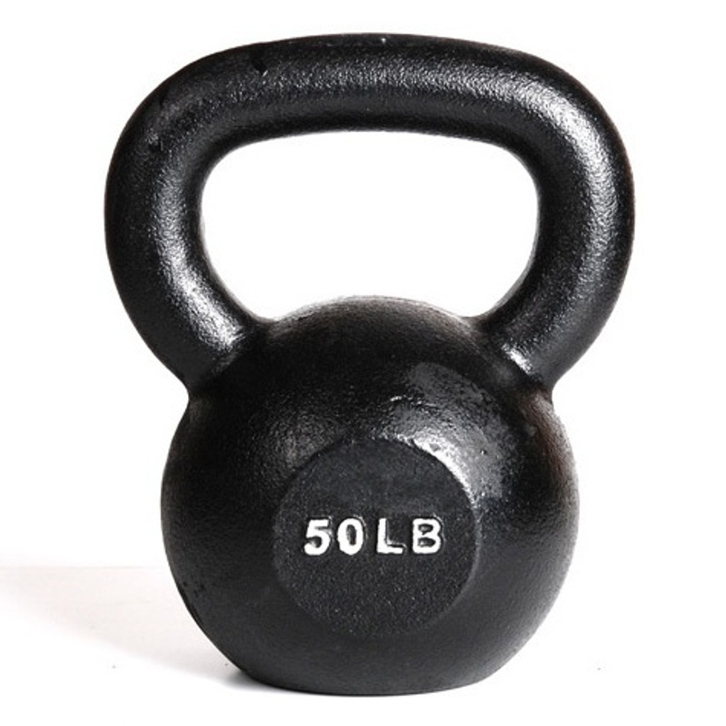 York 50 lb Cast Iron Kettlebell Weight